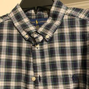 Ralph Lauren plaid button up shirt